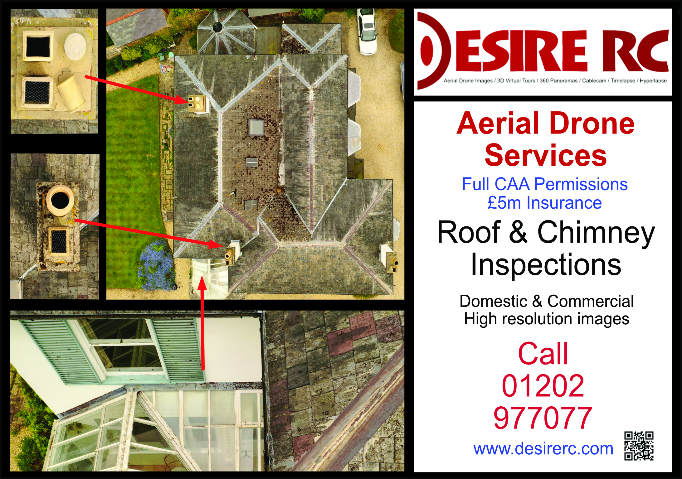 Do you need a roof survey, or are you a professional surveyor that needs to add this to your portfolio? Call us now!